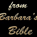 from Barbara's Bible